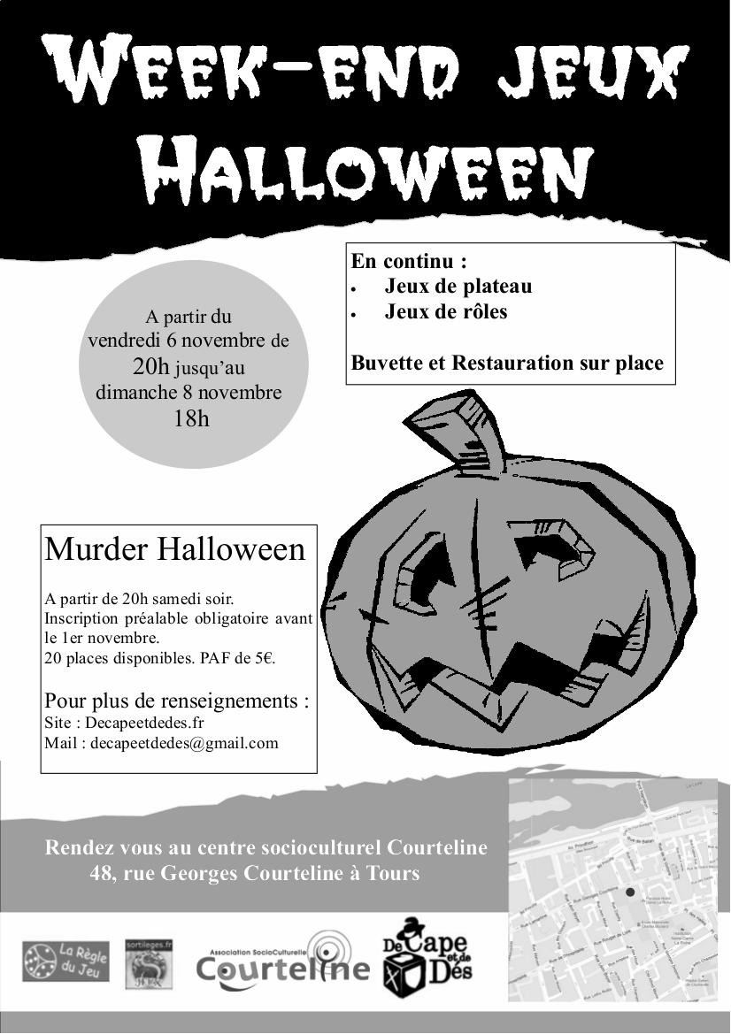 affiche halloween 2015_n&b